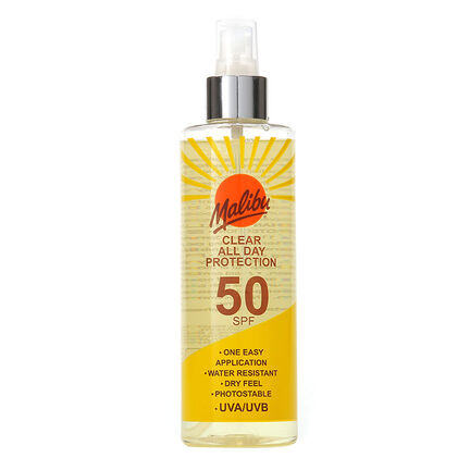 Malibu Once Daily Clear Protection Spray SPF50 250ml, , large