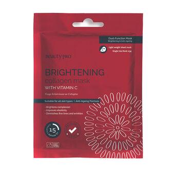 BeautyPro BRIGHTENING Collagen Sheet Mask with Vitamin C 23g, , large