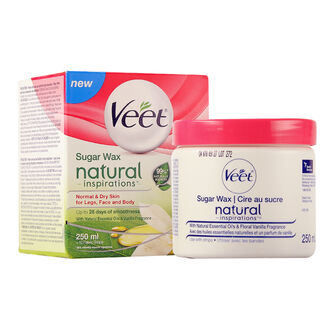 Veet Sugar Wax Natural Inspirations Kit Normal & Dry Skin, , large