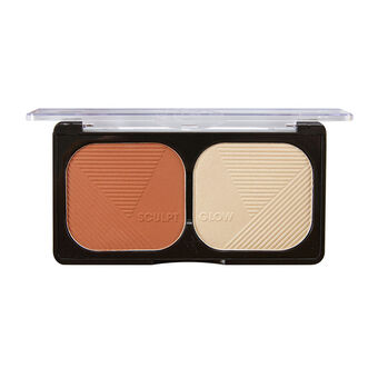Sunkissed Sculpt & Glow Bronzer and Highlighter 20g, , large