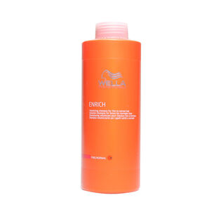 Wella Enrich Volumising Shampoo for fine normal hair 1000ml, , large