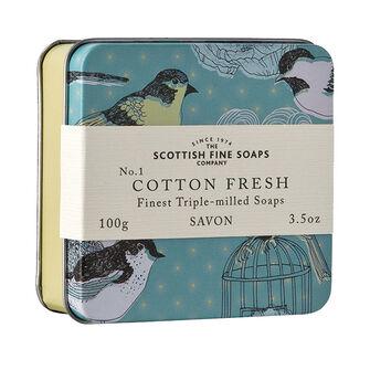 Scottish Fine Soaps Cotton Fresh Triple Milled Soap 100g, , large