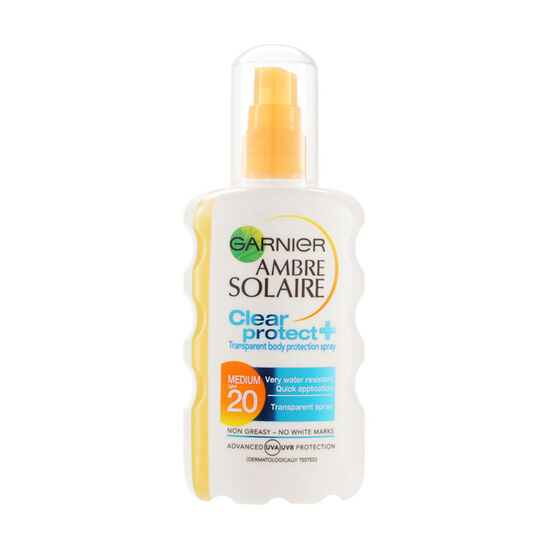 Garnier Ambre Solaire Clear Protect+ Protection Spray SPF20, , large