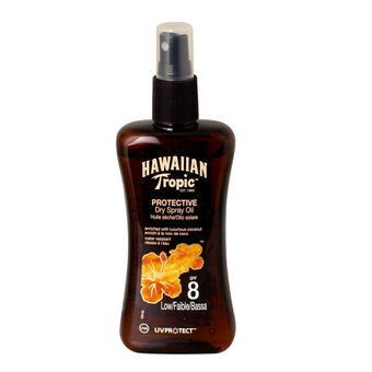 Hawaiian Tropic Protective Dry Spray Oil (SPF8) 200ml, , large