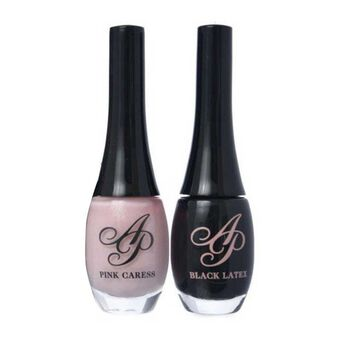 Agent Provocateur Nail Polish Pink Caress&Black Latex 2x10ml, , large