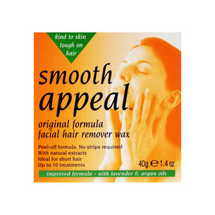 Smooth Appeal Original Formual Facial Hair Remover Wax 40g, , large