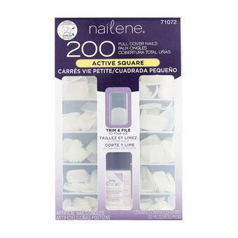 Nailene 200 Full Cover Nails Active Square, , large