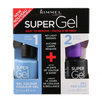 Rimmel Super Gel Set Nail Polish 2x 12ml, , large