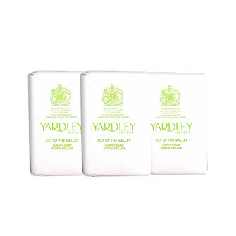 Yardley Lily of The Valley Soap Trio 300g, , large