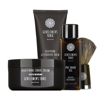 GENTLEMEN'S TONIC Shave Gift Set 125g 50ml & 100ml, , large