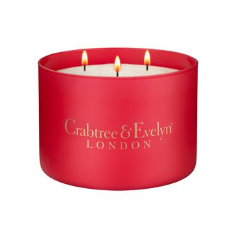 Crabtree & Evelyn Three Wick Noel Candle 558g, , large