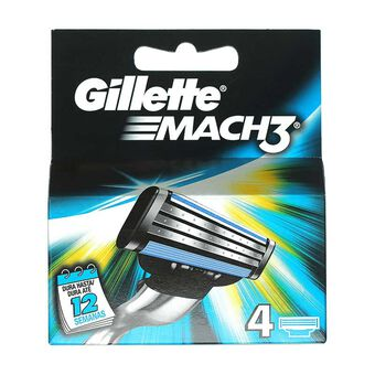 Gillette Mach3 Blades 4 Pack, , large