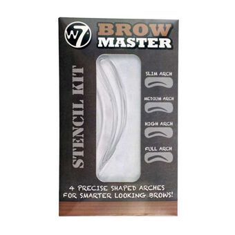 W7 Brow Master Stencil Kit, , large