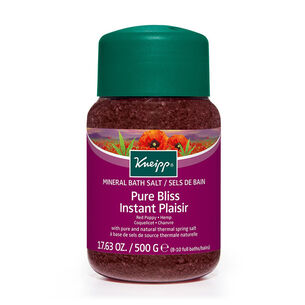 Kneipp Mineral Bath Salt Pure Bliss Red Poppy & Hempr 500g, , large