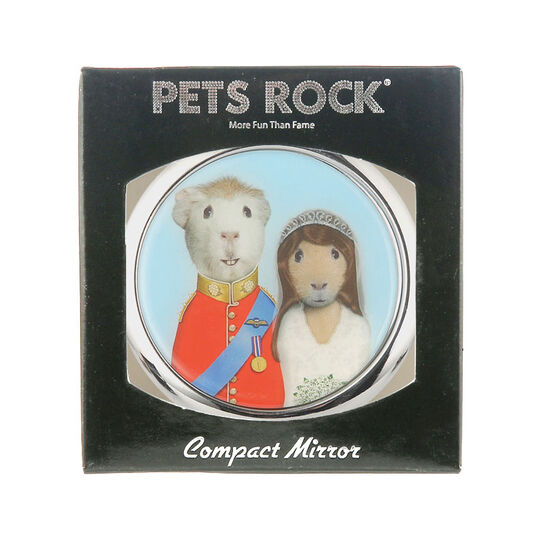 Creative Colours Pets Rock Compact Mirror Mr & Mrs, , large