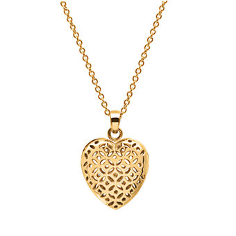Flo Perfume Jewellery Small Heart Necklace Gold, , large