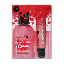 I Love Perfect Party Strawberries and Cream Gift Set, , large