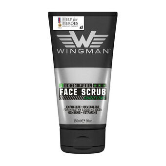 Wingman Skin Fuel Purifying  Face Scrub 150ml, , large