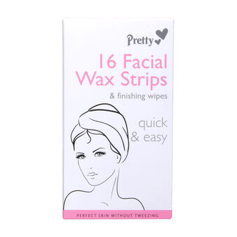 Pretty Smooth 16 Facial Wax Strips, , large