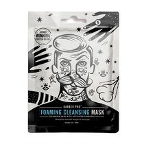 BARBER PRO Foaming Cleansing Mask With Activated Charcoal, , large