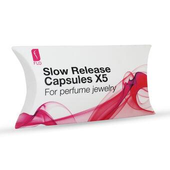 Flo Perfume Jewellery Slow Release Capsules x5 Teardrop, , large