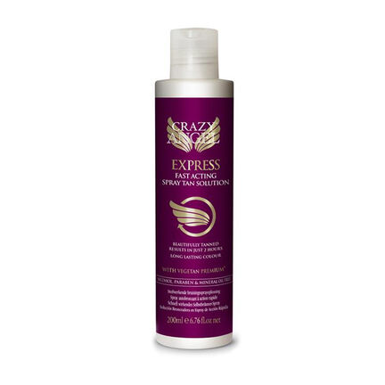 Crazy Angel Express Fast Acting Tan Solution 200ml, , large