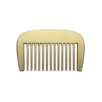Men's Society Brass Beard Comb, , large