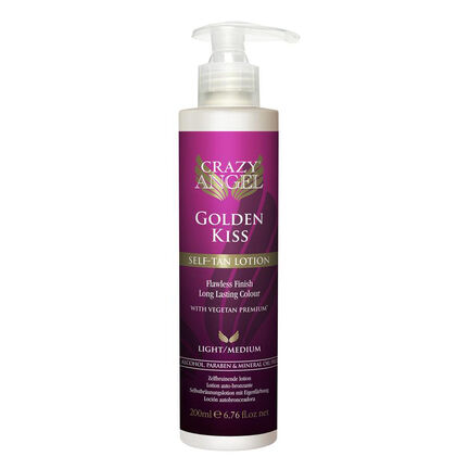 Crazy Angel Self Tanning Lotion Golden Kiss 200ml, , large