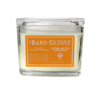 Barr-Co Blood Orange Amber 2 Wick Jar Candle 284g, , large