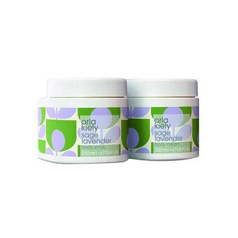 Orla Kiely Sage Lavender Body Kit, , large
