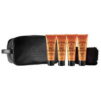 Scottish Fine Soaps -  Mens Grooming Travel Bag 4x 75ml, , large