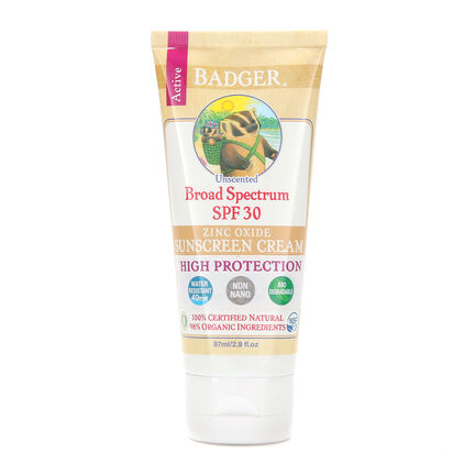 Badger Broad Spectrum Sunscreen Unscented  SPF 30, , large