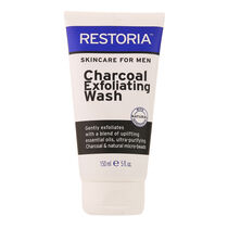 Restoria Skincare For Men Charcoal Exfoliating Wash 150ml, , large