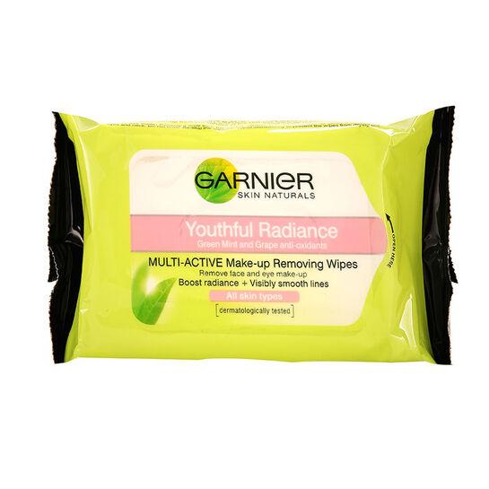 Garnier Youthful Radiance Face Wipes 25, , large