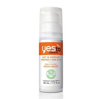 Yes To Carrots Daily Facial Moisturiser SPF 15 50ml, , large