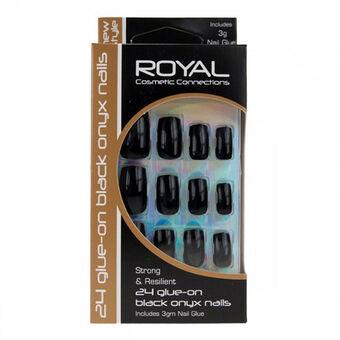 Royal Onyx False Nails Black, , large