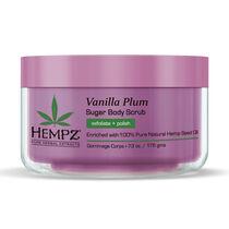 Hempz Vanilla Plum Sugar Herbal Body Scrub 176g, , large
