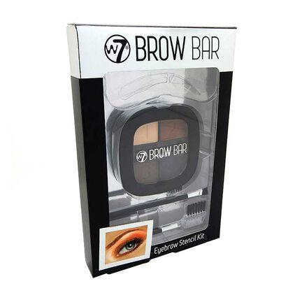 W7 Brow Bar Eyebrow Stencil Kit, , large