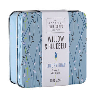 Scottish Fine Soaps Willow & Bluebell Soap In A Tin 100g, , large