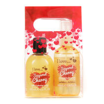 I Love Delicous Duo Sugared Cherry Bath & Shower Creme, , large