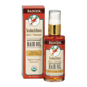 Badger Balm Seabuckthorn Apricot & Pomegranate Hair Oil 59.1, , large