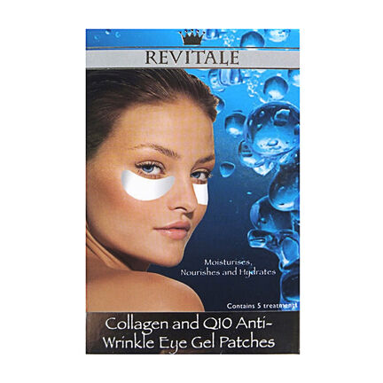 Revitale Collagen and Q10 Anti-Wrinkle Eye Gel Patches, , large
