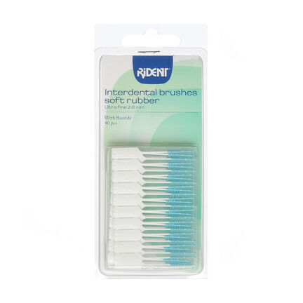 Rident Interdental Brushes Soft Rubber Ultra Fine 40 piece, , large