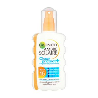 Garnier Ambre Solaire Clear Protect Sun Spray SPF15 200ml, , large