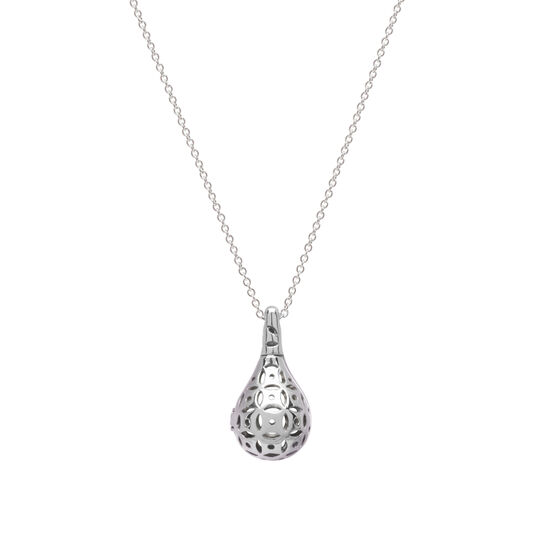 Flo Perfume Jewellery Teardrop Necklace Silver, , large