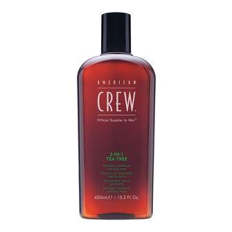 American Crew 3In1 Tea Tree Shampoo Conditioner & Body Wash, , large
