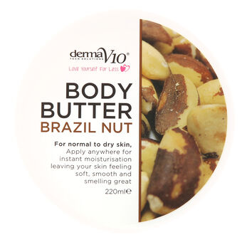 DermaV10 Body Butter Brazil Nut 220ml, , large