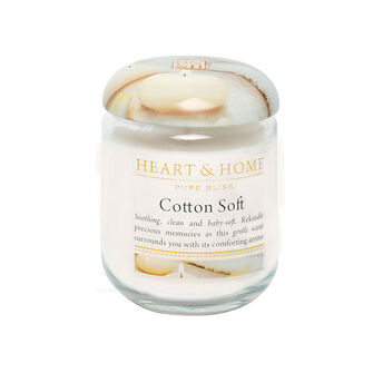 Heart & Home Cotton Soft Small Candle Jar 274g, , large