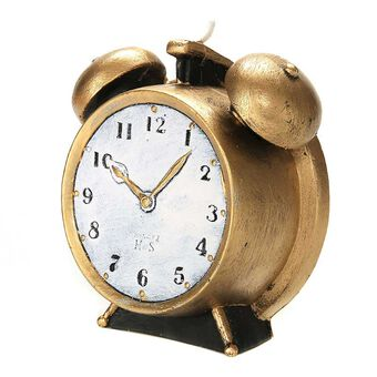 Levin Brothers Large Clock Candle Gold, , large