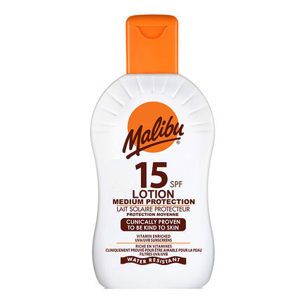 Malibu Sun Protection Lotion SPF15 200ml, , large